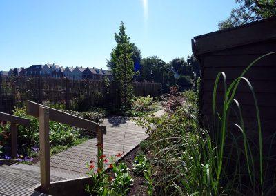 tuin met vlonder